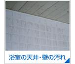 浴室の天井・壁の汚れ